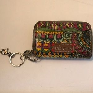 Sakroots Mini Wallet with Keychain